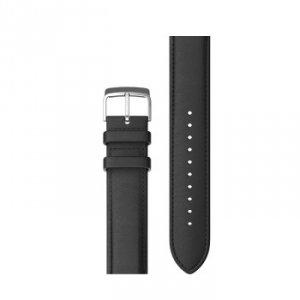 Pasek skórzany czarny 20mm do ticwatch e, c2 onyx/platium