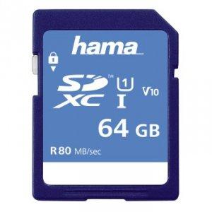Hama karta pamięci hs gold sdxc 64gb uhs-i 80mb /s c10