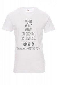 Koszulka biała - znakowanie - KAWALERSKI PRAWDZIWEGO FACETA
