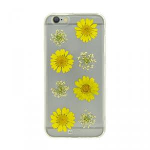 4OK Flower Etui iPhone 6/6S żółte stokrotki