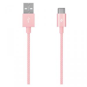 TTEC kabel aluminiowy USB-C 2.0 złoty róż