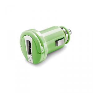 CELLULAR LINEŁadowarka samochodowa 12/24V USB 1A zielona