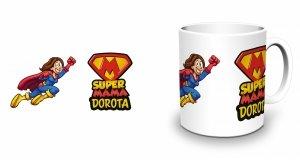Biały kubek Super Mama - Studioix.pl