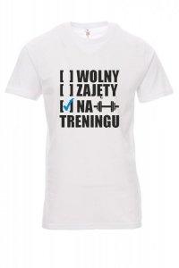 Koszulka biała - znakowanie - WOLNY ZAJĘTY NA TRENINGU