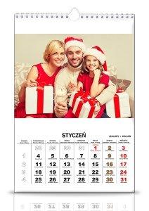 10 Kalendarzy 13 stronicowych A4 z Twoimi zdjęciami pion i poziom