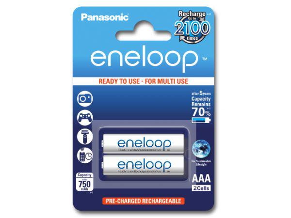 2 akumulatorki Panasonic Eneloop R3 AAA 750 mAh