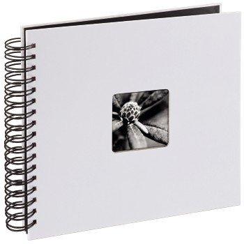 Album na spirali biały fine art 28x24 biały 50 czarnych stron