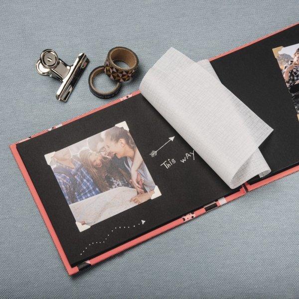 Album fine art 24x17/50 czarne strony limonkowy
