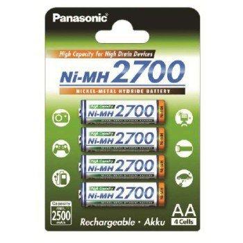 Akumulator Ni-Mh High Capacity, rozmiar AA, min. 2.500 mAh, 4 szt.