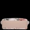 Duża Torba Skórzana Vittoria Gotti Kufer XL w Kwiaty Multikolorowa Różowa