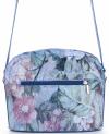 Vittoria Gotti Włoska Listonoszka Skórzana w modny wzór Kwiatów Niebieska