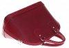 Torebka skórzana kufer Vera Pelle Czerwony