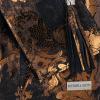 Vittoria Gotti Modne Torebki Skórzane w motyw kwiatów Shopper z Etui Granat