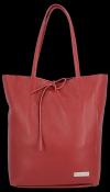 Uniwersalna Torebka Skórzana Firmowy Shopper Vittoria Gotti w rozmiarze XL Bordowa