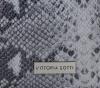 Vittoria Gotti Ekskluzywna Torba Skórzana Włoski Shopper w rozmiarze XL motyw węża Jasno Szara
