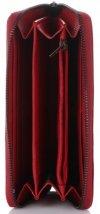Klasyczny Skórzany Portfel Damski firmy Lorenti typu Piórnik Czerwony
