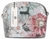 Vittoria Gotti Włoska Listonoszka Skórzana w modny wzór Kwiatów Szara