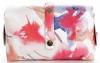 Torebki Skórzane Modne Listonoszki w malowany motyw kwiatów firmy Vittoria Gotti Made in Italy Multikolor Pomarańcz