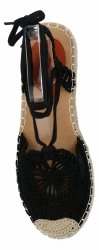Czarne sandały damskie espadryle na platformie firmy Bellicy