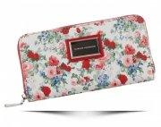 Dámská Peněženka XL Diana&Co vzorek v květinách Multicolor Červená