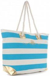 Elegantní Plážová dámská kabelka XXL Royal tyrkysová