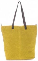 Univerzální Dámské kabelky Vera Pelle Žlutá