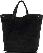 Univerzální Dámské kabelky ShopperBag XL Vera Pelle černá