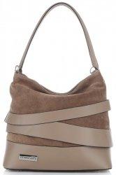 módní a elegantní kožená italská kabelka Vittoria Gotti Zemitá