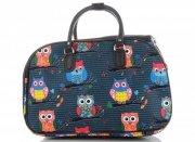 Malá cestovní taška kufřík Or&Mi vzor v sovy Multicolor - Mořská