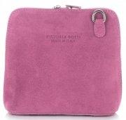 Vittoria Gotti Kožená kabelka listonoška růžová