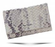 Dámská kožená peněženka Pierre Cardin hadí vzor Béžová