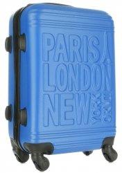 Módní Palubní kufřík Or&Mi Paris/London/NewYork 4 kolečka Modrá