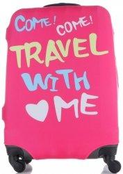 Obal na kufr Snowball L size Travel with me růžová