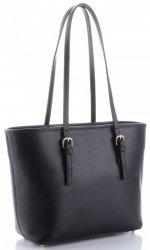 Klasická kožená kabelka Genuine Leather černá
