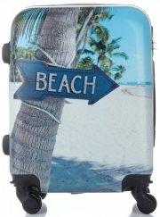 Palubní kufřík Or&Mi silniční značky 4 kolečka Multicolor Modrý