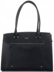 Elegantní Dámská kabelka kufřík David Jones černá