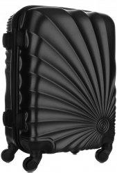 Módní Palubní kufřík Or&Mi 4 kolečka Černá