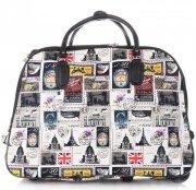 Cestovní taška na kolečkách s výsuvnou teleskopickou rukojetí Or&Mi Poštovní známky Multicolor - Bílá