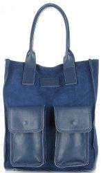 Dámské kabelky Vittoria Gotti Univerzální Modrá Jeans