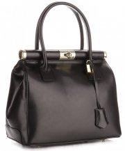Kožené kabelky kufříky Genuine Leather cčerný