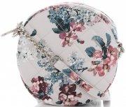 Kabelky Listonošky květinový vzor David Jones Multicolor Béžová