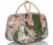 MALÁ cestovní taška kufřík Or&Mi World Multicolor - Zelená