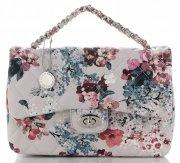 Prošívaná Kabelka Listonoška květinový vzor Diana&Co Multikolor Béžová