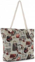 Plážová dámská kabelka Fashion Vícebarevný - béžová