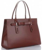 Kožené kabelky kufříky Vittoria Gotti hnědá