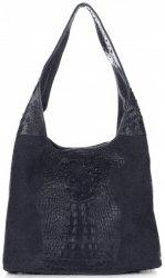 Kožené kabelky Aligator Tmavě Modrá