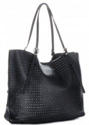 Univerzální Dámské kabelky s kosmetikou David Jones ažurová Černá