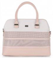 Dámská kabelka ažurová kufřík David Jones Růžová