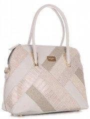 Elegantní Dámská kabelka kufřík David Jones Světle šedá