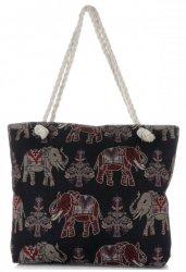 Plážová dámská kabelka Elephant Vícebarevný - černá